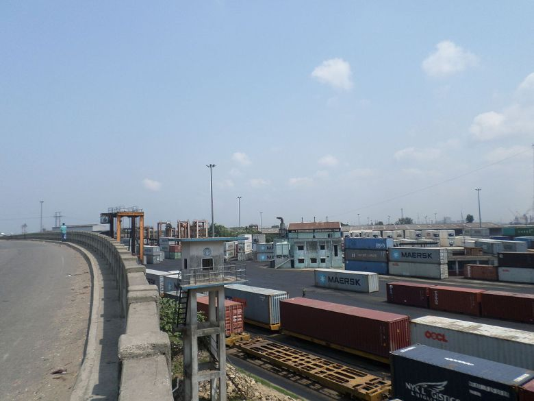 Chittagong, Bangladesh cargo terminal port.