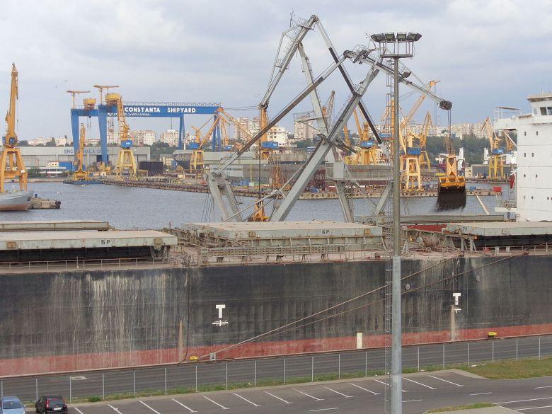 Freight Cargo Terminal Port Constanta. Romania.