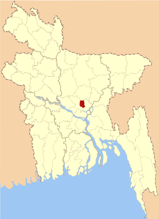 Dhaka Map. Discovering Cargo Terminal Dhaka Bangladesh.